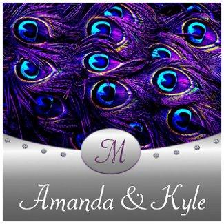 Purple Peacock Wedding Invitations invitation