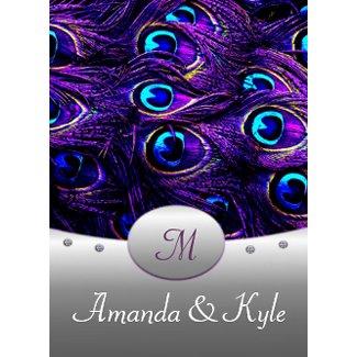 Purple Peacock Wedding Invitations 4.5