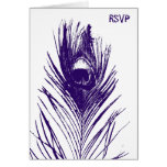 Purple Peacock Wedding RSVP Greeting Cards