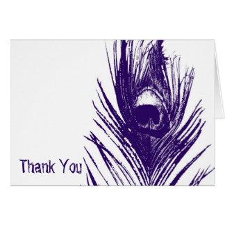 Purple Peacock Wedding Thank You Cards