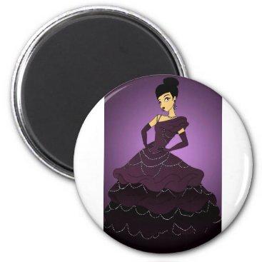 jasmineflynn Purple Pearl Dress Magnet