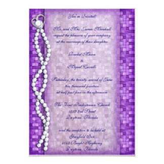 Purple Pearl Invitations