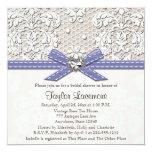 Purple Pearl Lace Diamond Bridal Shower Invitation