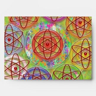 Purple Pearl Neutron Atom Electron- Graphic Design Envelope