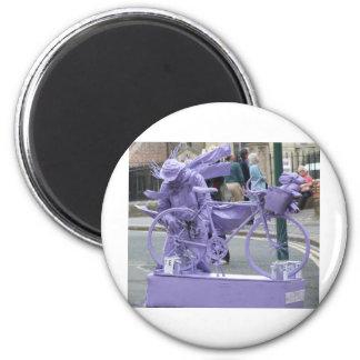Purple Pedaller Magnet