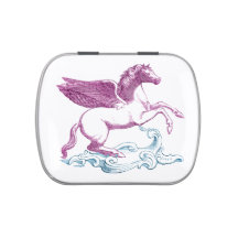 Purple Pegasus Jelly Belly Candy Tins