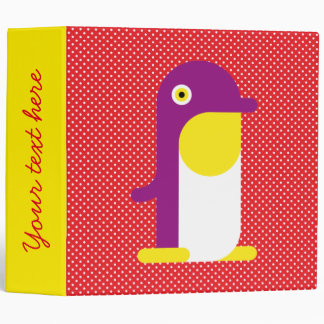Purple Penguin 3 Ring Binder