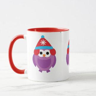 Purple Penguin and Snow Mug