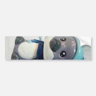Purple Penguin I Bumper Sticker