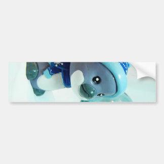 Purple Penguin III Bumper Sticker
