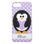 Purple Penguin Love iPhone 7 Case