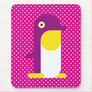 Purple Penguin Mouse Pad