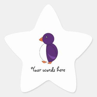 Purple penguin stickers