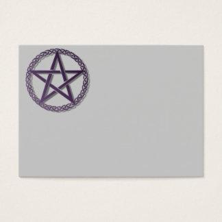 purple pentacle business card