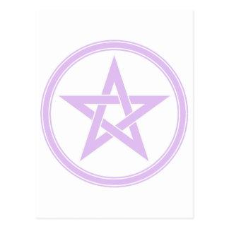 Purple pentacle postcard