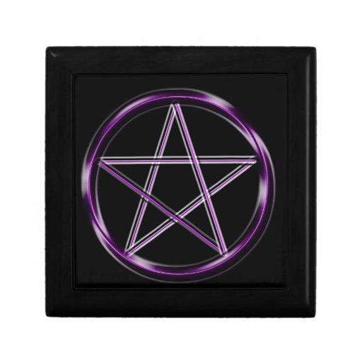 Purple Pentacle Trinket Boxes