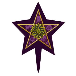 Purple pentagram - Cake Topper