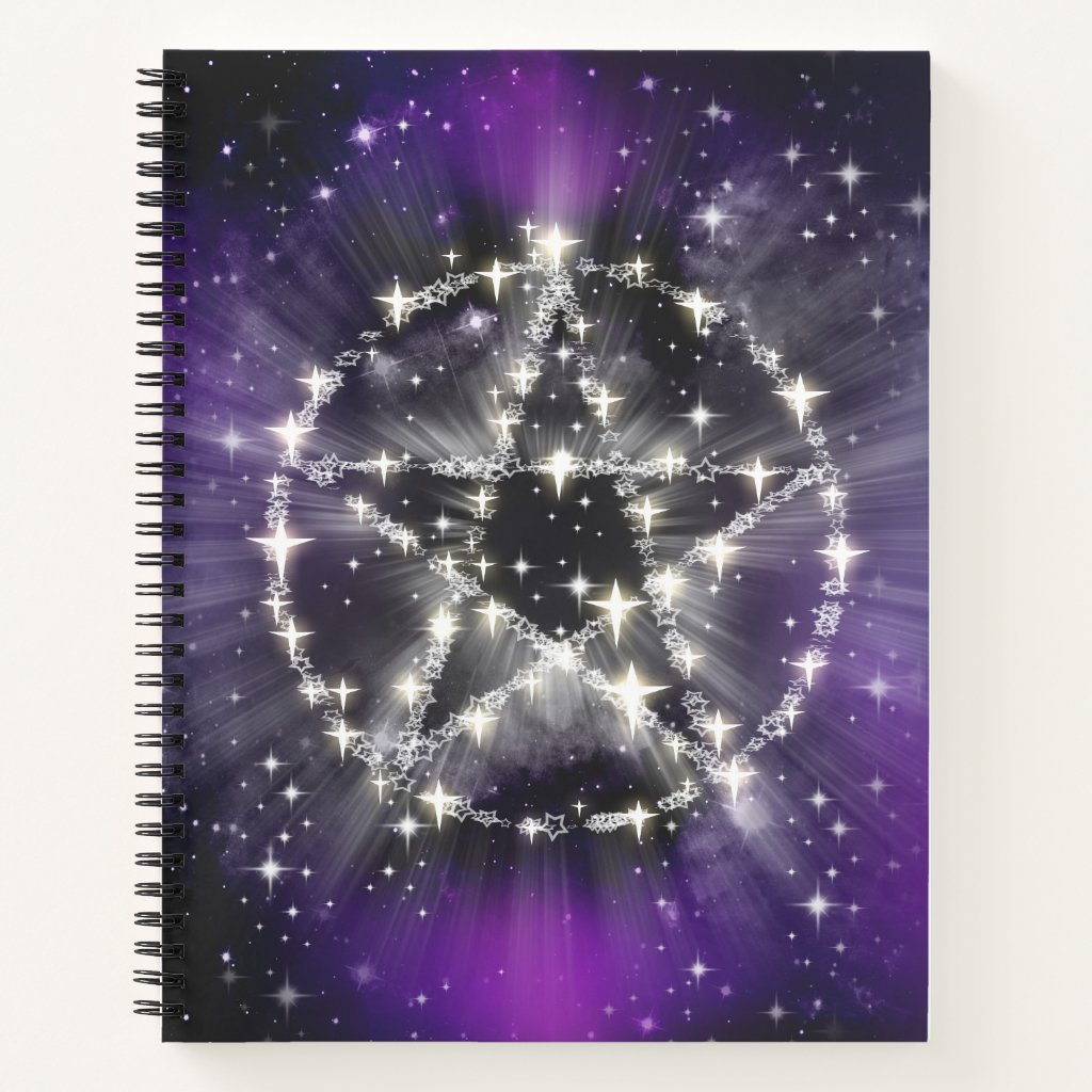 Purple Pentagram Notebook