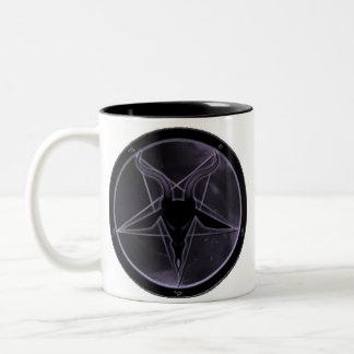 Purple Pentagram Two-Tone Coffee Mug