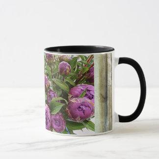 Purple Peonie 11 oz Ringer Mug lk