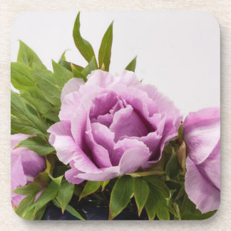 Purple Peonies Bouquet Drink Coaster
