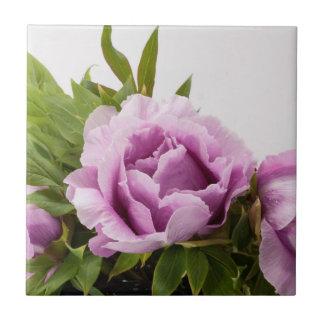Purple Peonies Bouquet Tile