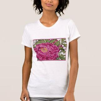 Purple Peony Flowers Garden Painting Shirt
