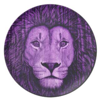 Purple People Eater - Lion Dinner Plate