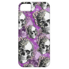 Purple People Eater. Skull And Roses I Phone Case. Iphone Se/5/5s Case at Zazzle