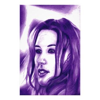 Purple People Woman Portrait Original Art Photo Print