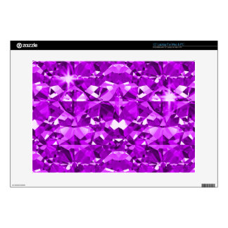 Purple Perfect Diamonds Skin For Laptop