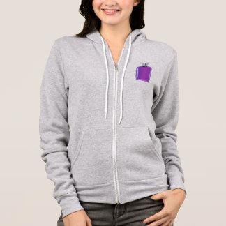 Purple perfume bottle hoodie