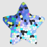 Purple Periwinkle Blue & Black Mosaic Pattern Sticker