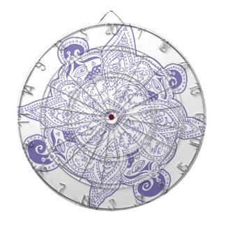 Purple Persian Star Mandala Dart Board