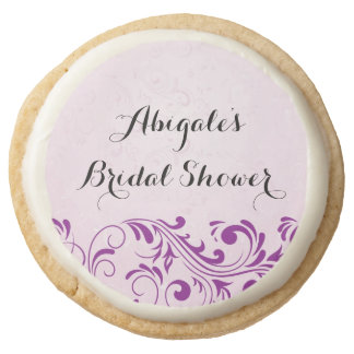 Purple Personalized Bridal Shower Cookies