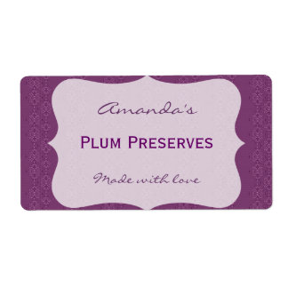 Purple Personalized Canning Label Shipping Label