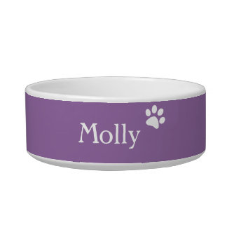 Purple  | Personalized Cat Dish