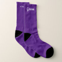 Purple Personalized Groom Wedding Socks
