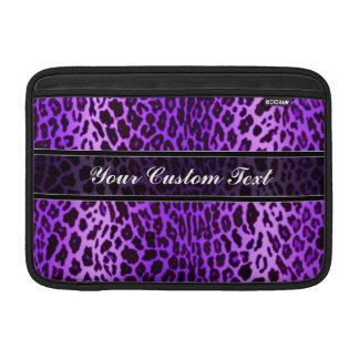 Purple Personalized Leopard Animal Print MacBook Sleeves