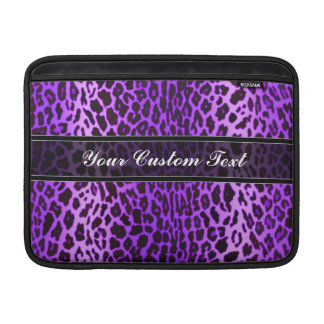 Purple Personalized Leopard Animal Print Sleeves For MacBook Air
