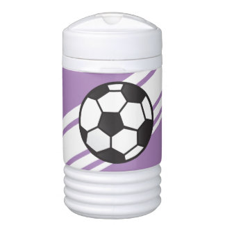 Purple Personalized Soccer Igloo Beverage Cooler