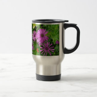 Purple petals amongst the greenery coffee mug