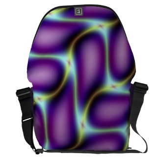 Purple Petals Design Courier Bag
