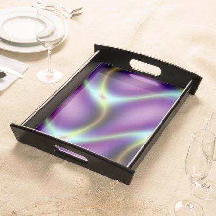 Purple Petals Design Serving Tray