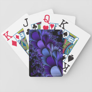 Purple Petals Playing Cards