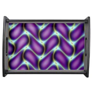 Purple Petals Serving Tray