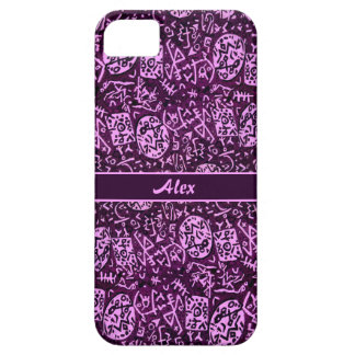 Purple Petroglyphs (customizable) iPhone SE/5/5s Case