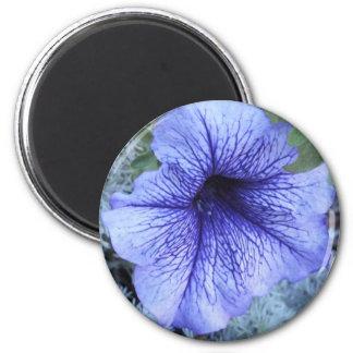 Purple Petunia 2 Inch Round Magnet