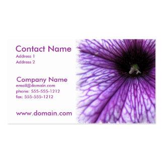 Purple Petunia Business Card