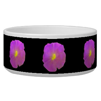 Purple Petunia Dog Bowl